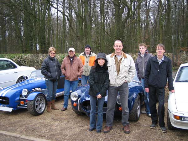 Some Helluvit Sports Car Club members on one of their road runs in January 2007.